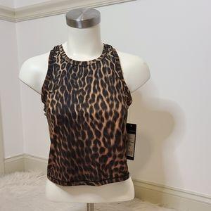 NWT Yogalicious Cheetah Tank Size S